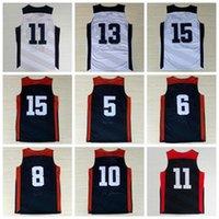 basket ball flash - Men Dream Team USA Basketball Jerseys American Sports Basket ball Pallacanestro With Player Name Team Logo