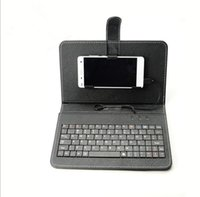 Wholesale Micro USB Foldable Folding Stand Case Cover and Leather Keyboard Stand in Case For OPPO HTC LG XIAOMI Cellphone Ipad