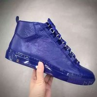 arena sizes - Mens plus size super quality sheepskin leather brand arena shoes fashion kanye west high sneakers