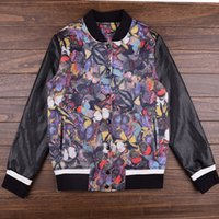 baseball jacket uk - Cute color butterflies Digital print Baseball Short winter jacket women fashionable bomber coats new hipster coat uk fox