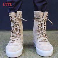 Wholesale New Arrivals Taupe Suede Thick Bottom Crepe Ultral Boost Men Boots Cusual Style Super Star Shoes Men Lace Up Men Ankle Boots