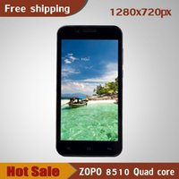 Cheap zopo 8510 mobile phone MTK6582 quad core Android 4.4 14mp 1GB RAM+32GB ROM 1280 * 720 IPS GPS WCDMA 3G cell phones smart phones