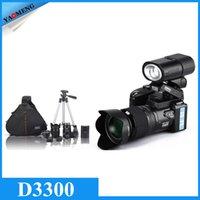 Wholesale Original PROTAX MP D3300 Digital Cameras professional Cameras HD Camcorders DSLR Cameras Wide Angle x Telephoto Lens Camara Digital