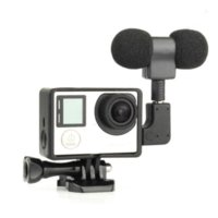 Wholesale 3 in Gopro Accessories Kit Skeleton Side Open Housing Shell Case Microphone Microphone Adapter for Gopro Hero