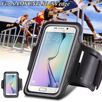 bag clips plastic - S6Edge S7 Sports Running Arm Band Leather Case For Samsung Galaxy S3 S4 S5 S6 S6 Edge Phone Arm Bag Band GYM Holder Pounch Belt