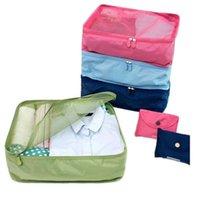 Wholesale New T shirt Storage bag carry on luggage folding Travel Luggage Nylon waterproof material suitcase weekend bag