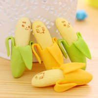 banana uses - Wholesales Banana Eraser Novelty Sationery Office or Students Use Rubber Eraser Gift