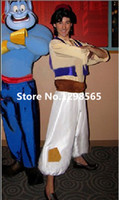 costume de film aladdin achat en gros de-Gros-Custom Made Costume Aladdin Lamp prince Aladdin Pour Cosplay Costume Film Adulte Man Dance Party