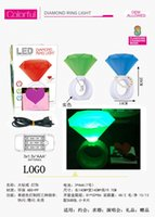 Cheap COLORFUL DIAMOND RING LIGHT& LED & ABS+PP & Environment & battery by 3*1.5V*AAA & present