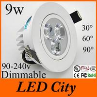 Wholesale White shell Led Spotlight Dimmable w fixture Led Ceiling Lighting Bulb Lamp v v Warm Natural White k UL CE CSA SAA