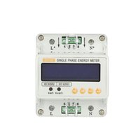Wholesale LCD Electricity Meter Single Phase Electricity Energy watt power Meter Current Voltage Adjustable Din rail Kilowatt Hour Tester
