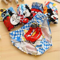 Wholesale Cartoon Underwear Mickey Mouse Spiderman Calcinhas Infantil Cars Next Children s underwear Boys Cotton