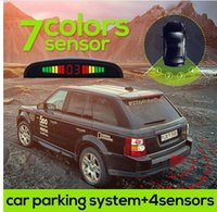 Wholesale 10 colors choice Car LED Parking Sensor Kit Display Sensors for all cars Reverse Assistance Backup Radar Monitor System