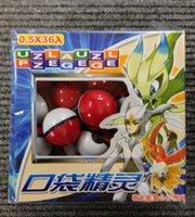Wholesale 36pcs Cute Poke Go Master Ball Pop up Poke Ball Mini Mega Model Classic Action Figure Night luminous Toys b187