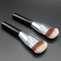 air brush cosmetics - Professional Makeup Aritst Flat Foundation Bronzer Makeup Brush Loose Powder Blush Synthetic Hair Air Cosmetic Brush