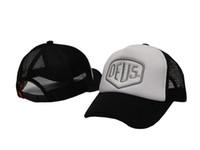 bboy trucker hats - 2016 Brand New Deus Ex Machina Baylands Trucker Snapback Men Women Bboy Girls Mesh Sports Hat Hiphop God Pray Ovo Cap Black