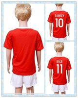 allen boy - Fast Uniforms Kit Youth Kids Soccer Jersey Wales European cup ROBSON KANU RAMSEY BALE Allen Williams Home Red Jerseys