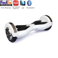 Wholesale 8inch Electric Balance Scooter Bluetooth Smart Wheels Hoverboard Handless Skateboard Global Unique APP Cellphone Controlled