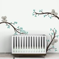 baby packaging design - D551 Large size Koala Tree Branches DIY Wall Decals Wall Sticker Nursery Vinyls Baby Wall Stickers Wall Art For Kids Rooms