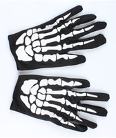 Wholesale Halloween Skull Gloves Show Props Dance Party Ghost Terror Ghost Gloves Bone Gloves Gloves