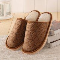 Wholesale Warm Winter Slippers Indoor Floor Shoes Men Women Home Slippers Couples Women Slippers Men TM0158