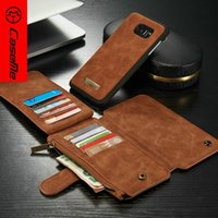 Cheap CaseMe Stand Wallet Phone Case For iPhone 6 6s plus Samsung Galaxy S6 S7 edge Note 5 Leather Case 2016 HOT FreeShipping
