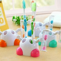 bathroom timers - New Cartoon hourglass toothbrush holder Rack Stand Child brushing timer minutes countdown bathroom accessories