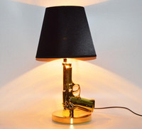 ac fabric - Foyer Reading sitting living room decorative Modern desk table lamp gun pistol bedside table light handgun table lamp