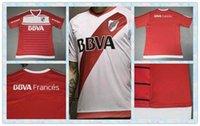 Inicio rápido Tailandia Río de la Plata en blanco Blanco Rojo Hogar ausente de camiseta de fútbol 2016-2017 2016 camisa de los jerseys El nuevo estilo