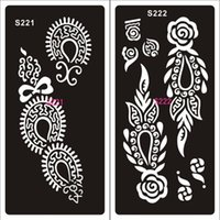 Wholesale Sheet Hand Painted Hollow Mold Inkjet Tattoo Henna Templates Stickers For DIY Tools Professional New Body Painting Kit Style