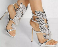 Wholesale Kanye West Release Leaves Edition quot Cruel Summer quot Heels Open Toe Ankle Buckles High Heels Women Sandals Shoes Woman Mujer Zapatos