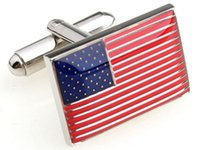Wholesale 2016 new US national flag cufflinks cufflinks men cufflinks men s fashion jewelry cufflinks cuff links knots