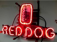 beer can decorations - Red Dog Miller Can Beer Bar Pub Masei Helmet Bull Neon Sign Custom Handmade Real Glass Tube Decoration Display Neon Signs quot X12 quot