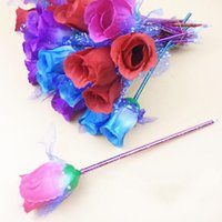 art novel - novel pen rose blue child adult refill ball point pen mm