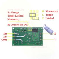 Wholesale AC220V CH Wireless Remote Control Lighting Switch System Receiver amp Transmitter Working Way Adjustable MHZ set