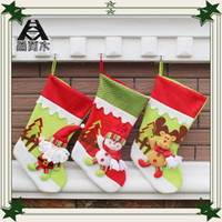 Wholesale European Christmas ornaments decorations Hanging Gifts bag handcraft stockings cm christmas supplies tree scarf