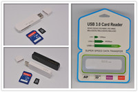 Wholesale 2016 newest in USB SDHC SDXC Micro SD Card Reader SD MicroSD TF Trans flash Card TF Adapter Converter Tool