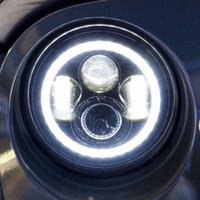 high intensity led - 2 Pieces Hot sell high intensity v inches round w led driving light Jeep headlight with angle eyes