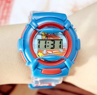 Wholesale Hot Cars silicone jelly sport watch casual cool cartoon car boy Digital children electronic watches