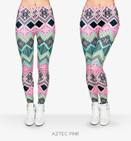 aztec print - Women Leggings Aztec Graphic Print Skinny Stretchy Yoga Sportwear Soft Trousers J29694