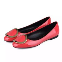 ballet shoe brands - Brand New women dress shoes round buckle round toes leather ballet shoes