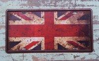 Wholesale 15x30cm The Union Flag Vintage Tin Sign Decor Bar Pub Home Club Wall Retro Art Poster