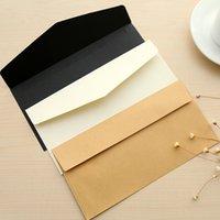 Wholesale Letterpaper Envelope Vintage Pure Envelope gsm Black White Kraft Paper Envelopes Invitation Mail Bag Factory Manufacturer Promotion