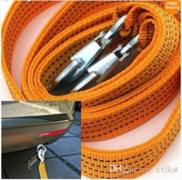 Wholesale 3 Tons Heavy Duty Auto Car Emergency Nylon Trailer Rope Towline with Slip Hooks Good Quality Brand New
