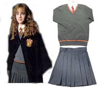 Wholesale Gryffindor Hermione Cosplay Skirt Uniform Custom Made top shirt skirt tie