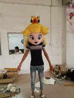 Wholesale Adult head of Princess Peach mascot costume Princess Peach costume for sale