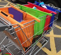 bags for groceries - 2016 Large Size in1 Shopping Grocery Bag For Supermarket Trolleys Carrier Bag Shopping Bag Reusable Trolleys Folding Shopping Bag