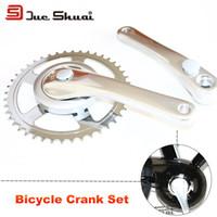 bicycle crank gear - Bicycle Crank Set T Chain Wheel mm Crank Mountain Bike Part Silver Crankset Wheel Gear Bolt Bracket Frame Silver Crank