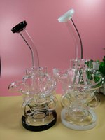big gears - New design Klein big size perfect swirls Glass Bongs arms inline recycler heady dab oil rigs Gear Perc Water Pipes have glass bowl