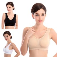 acrylic high quality mat - High Quality Women Sexy Costumes Hot Sell Thin No Mat Vest Fitness Stretch Bra